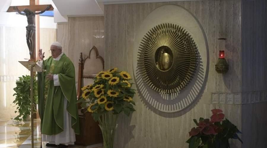 教宗清晨弥撒:意识形态不应取代信仰