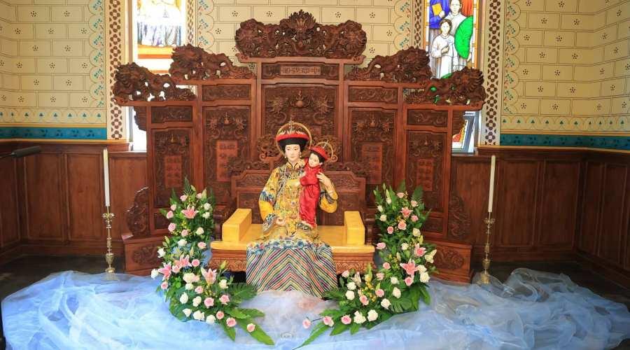 【北堂】李山主教在北堂祝福中华圣母像