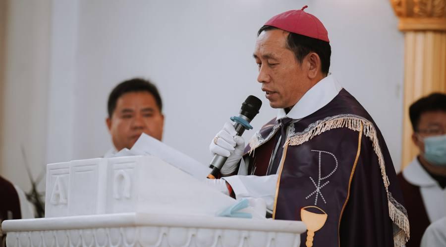 杨祥太主教追悼会中的追悼词